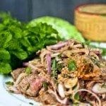 Thai-svinekjøtt-salat