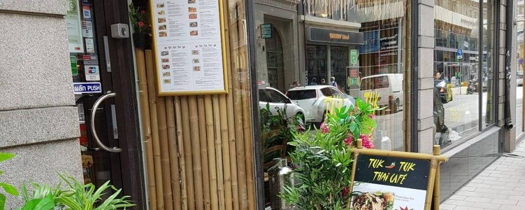 Tuk Tuk Thai restaurants indgangsparti og facade